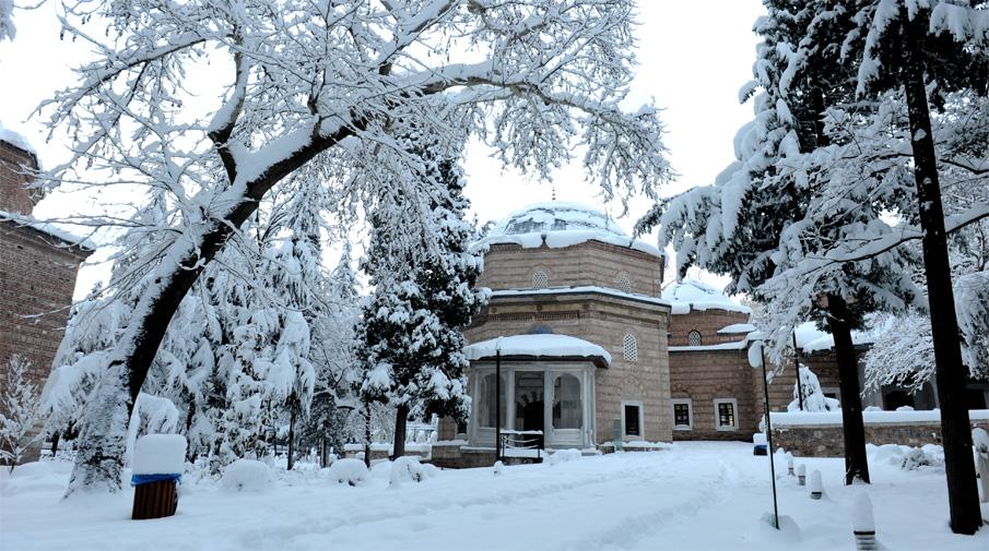 Kar yağışı Bursa'da görsel şölen oluşturdu 14