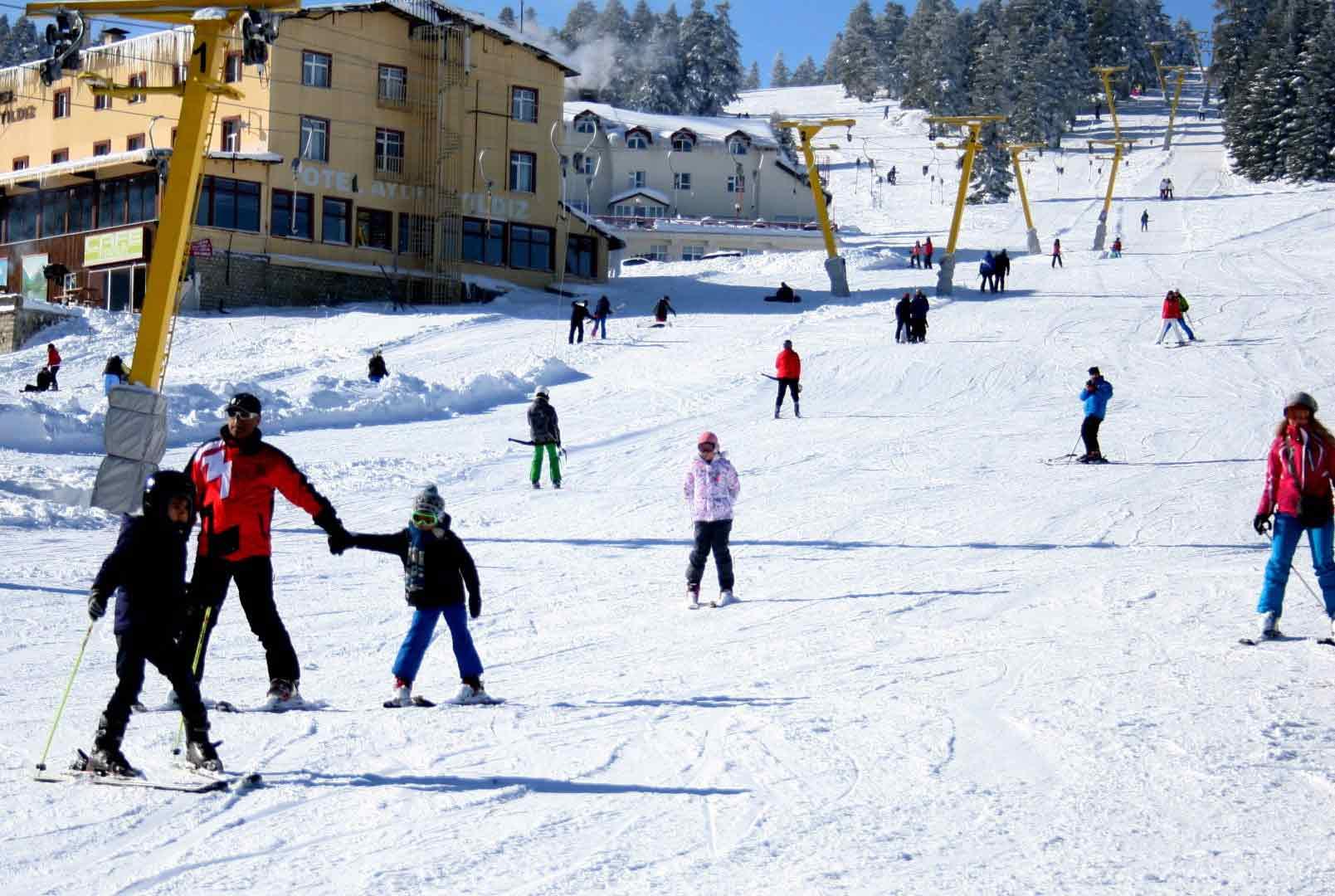 Acemi kayakçılar pistleri ele geçirdi 4