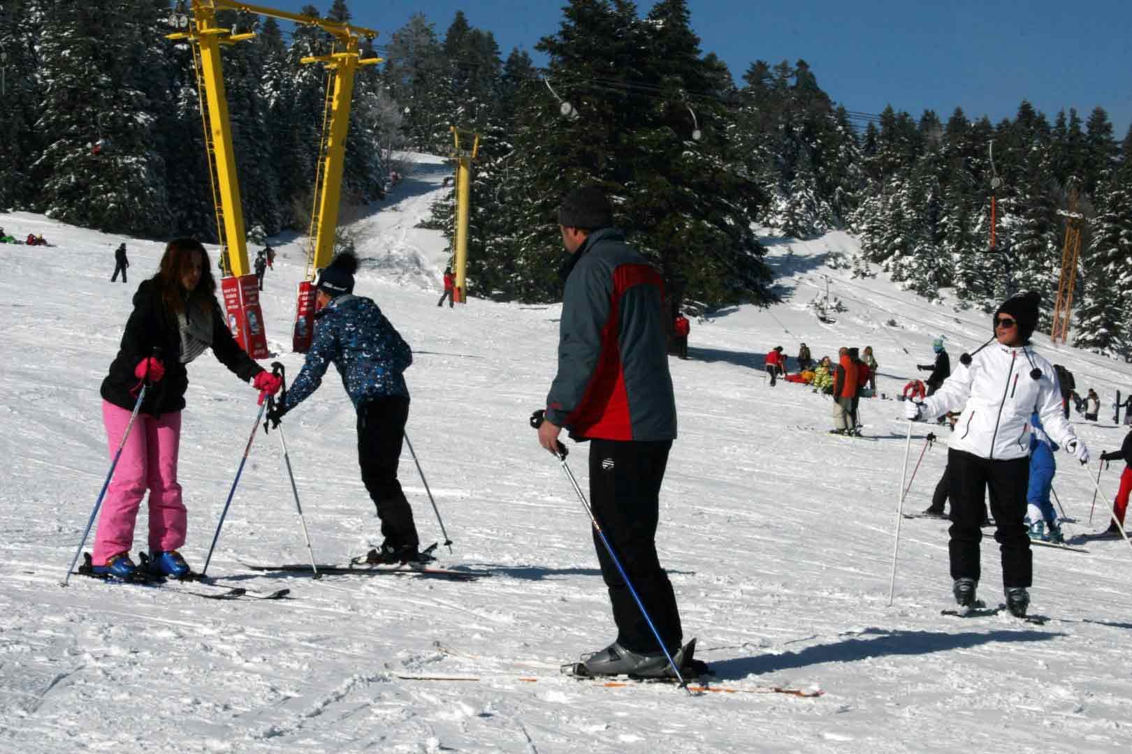 Acemi kayakçılar pistleri ele geçirdi 6