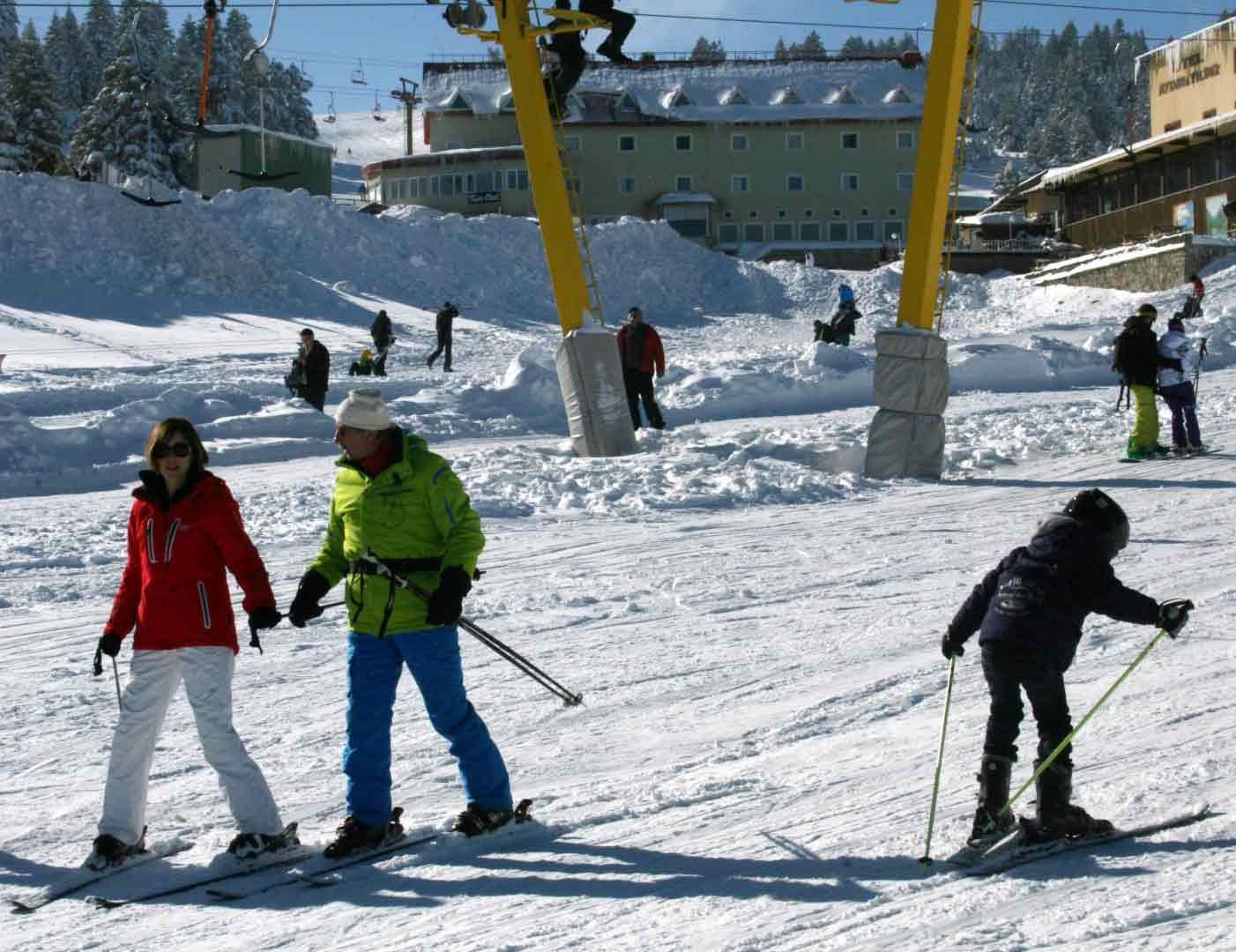 Acemi kayakçılar pistleri ele geçirdi 7