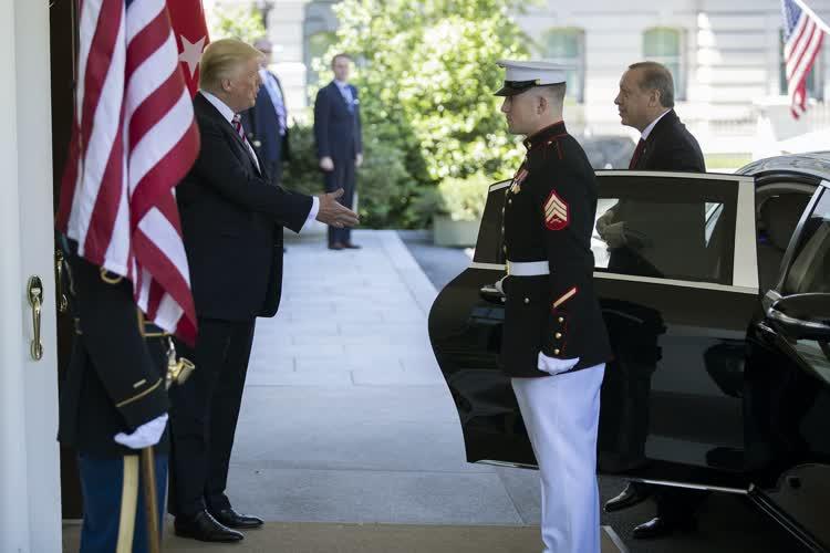 Cumhurbaşkanı Erdoğan-Trump görüşmesinden ilk fotoğraflar 1