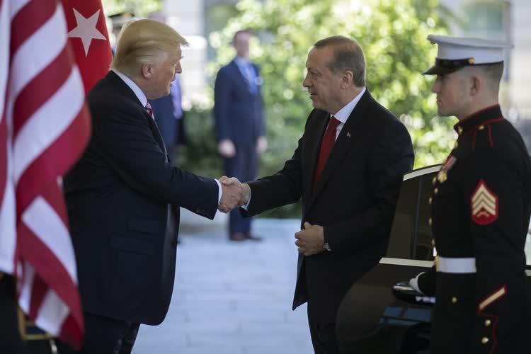 Cumhurbaşkanı Erdoğan-Trump görüşmesinden ilk fotoğraflar 2