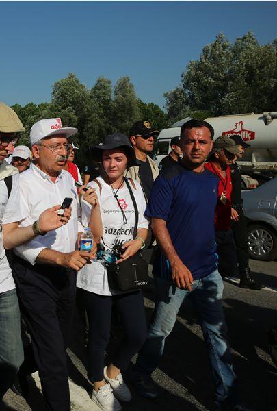 Kemal Kılıçdaroğlu Adalet Yürüyüşü'nde 1