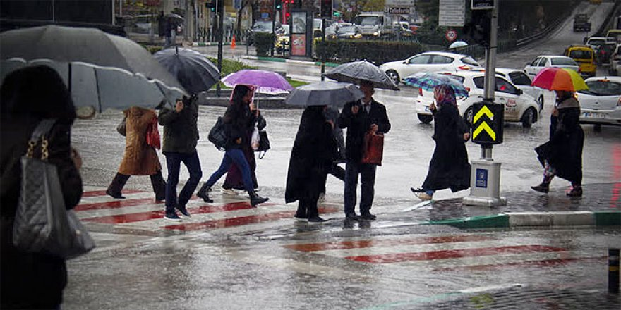 Bursa'dan yağmur manzaraları
