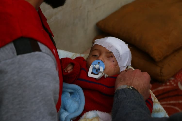 Türk Kızılayı Kerim bebeğe ulaştı 1