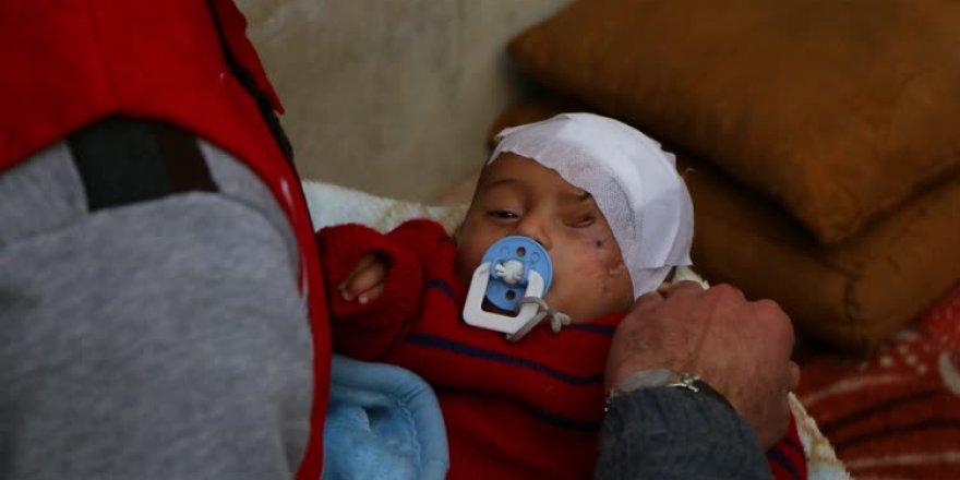 Türk Kızılayı Kerim bebeğe ulaştı