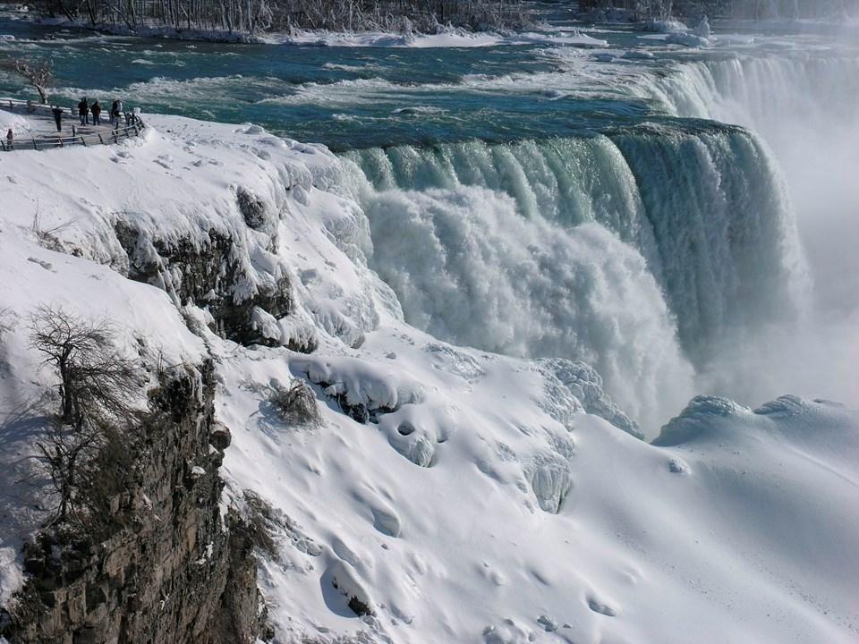 Niagara Şelalesi buzla kaplandı 1