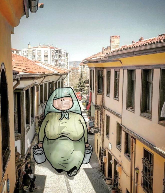 Dev illüstrasyonlarla sokakların hikayeleri 1