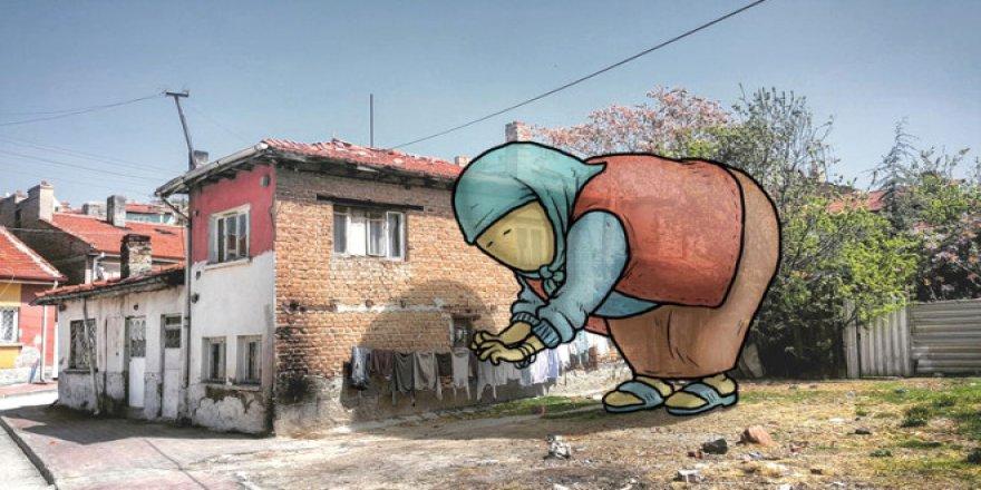 Dev illüstrasyonlarla sokakların hikayeleri