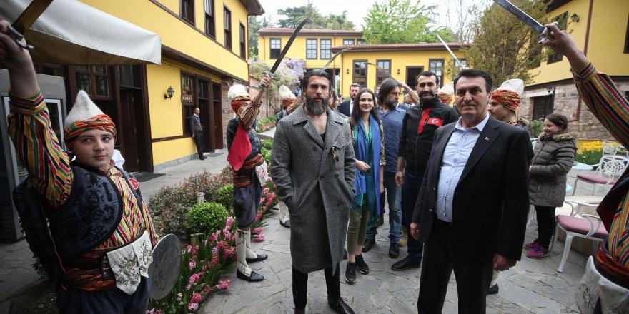 Diriliş Ertuğrul dizisi oyuncuları Bursa'da