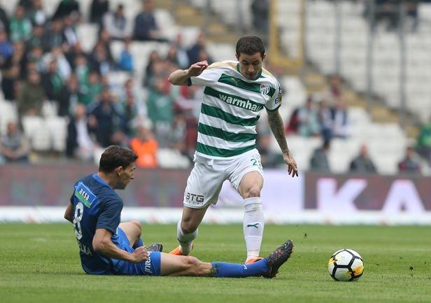 Bursaspor-Kasımpaşa maçından kareler 1