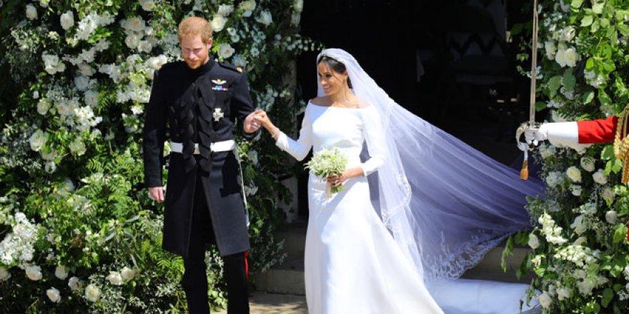 Meghan Markle ve Prens Harry evlendi