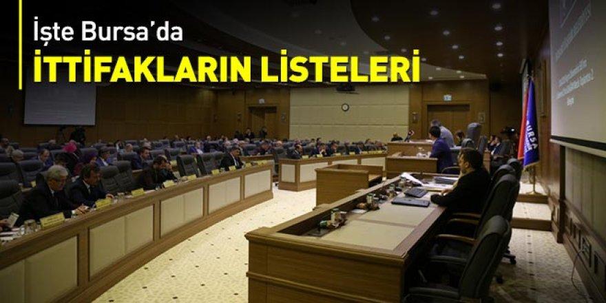 İşte Bursa'da ittifakların listeleri