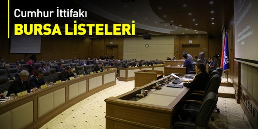 Cumhur İttifakı Bursa listeleri