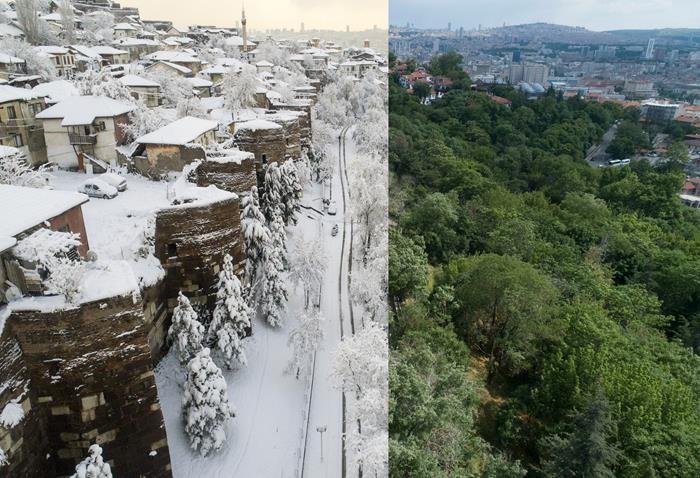 Kuş bakışı fotoğraflarla Türkiye'den yaz-kış manzaraları 1