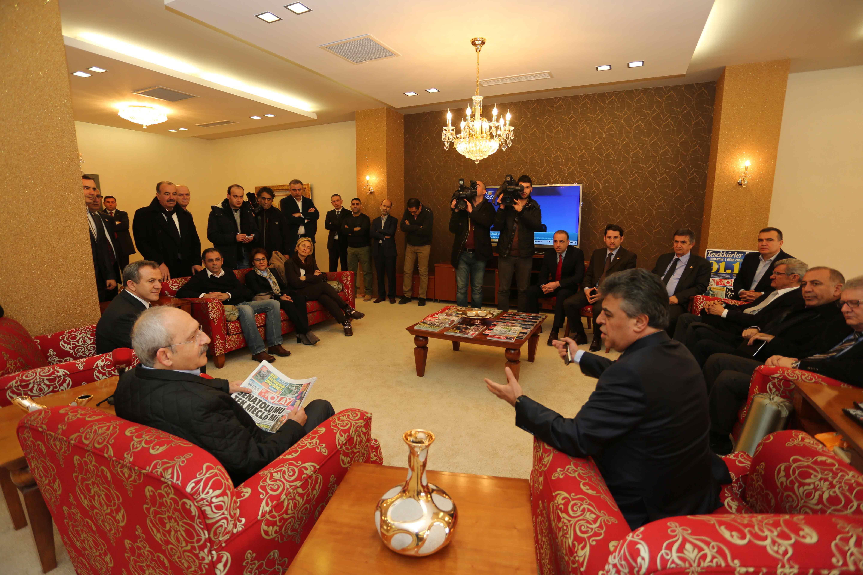Kılıçdaroğlu Olay Medya'yı ziyaret etti 20