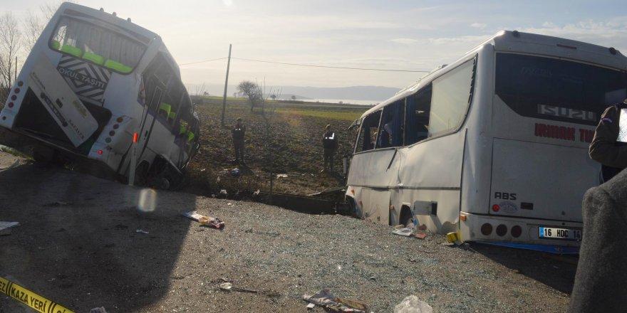 Bursa'da feci kaza! 1 ölü, 30 yaralı