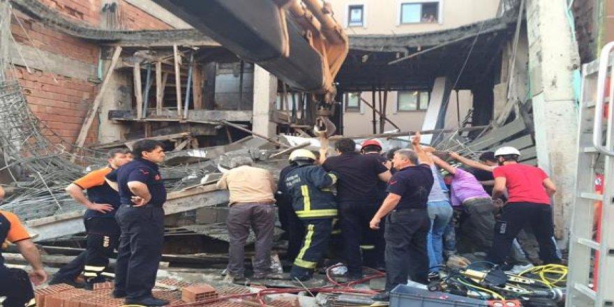 Bursa'da çöken inşaatta can pazarı