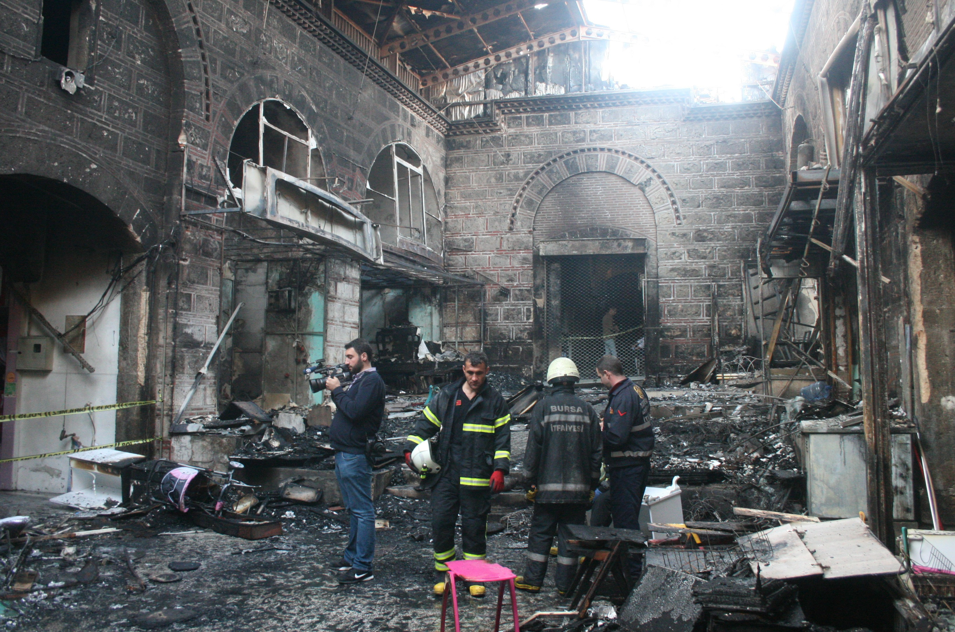 Kapalıçarşı yangınının tahribatı 1