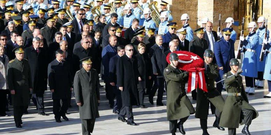 Anıtkabir'de Büyük Önder'i anma töreni
