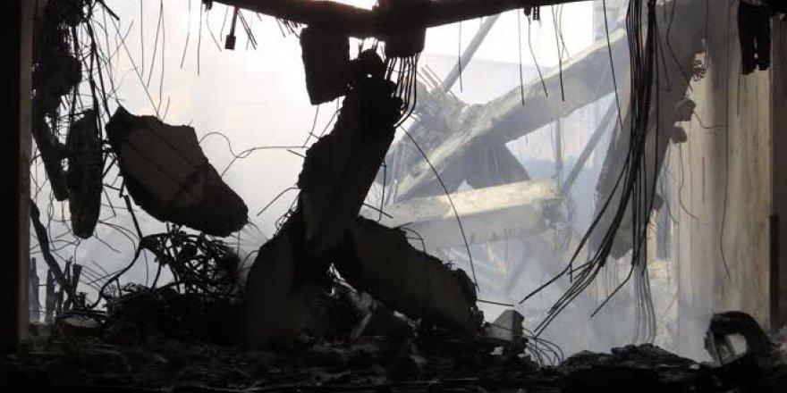 Bursa'daki fabrika yangınında zarar büyük
