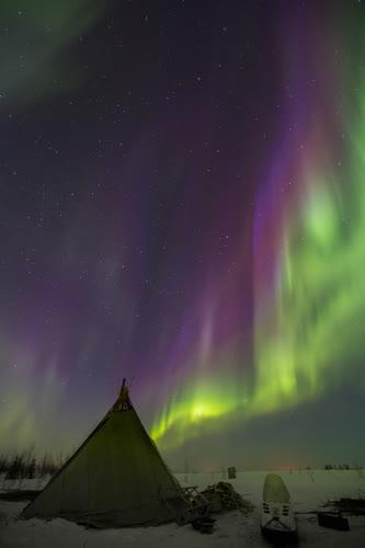 Rusya'da kuzey ışıkları 1