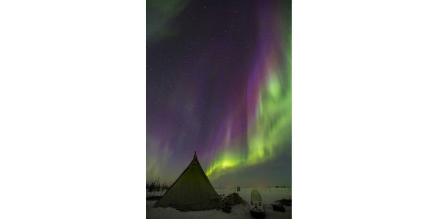Rusya'da kuzey ışıkları