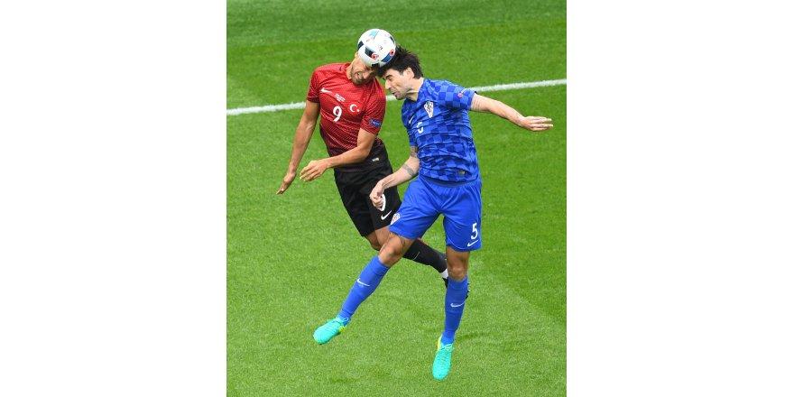 Türkiye - Hırvatistan maçından kareler