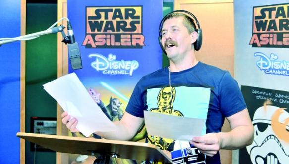 `Star Wars` için stüdyoda