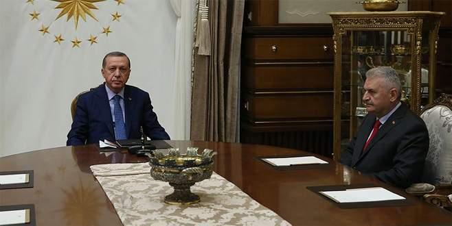 Cumhurbaşkanı Erdoğan Başbakan Yıldırım ile görüştü