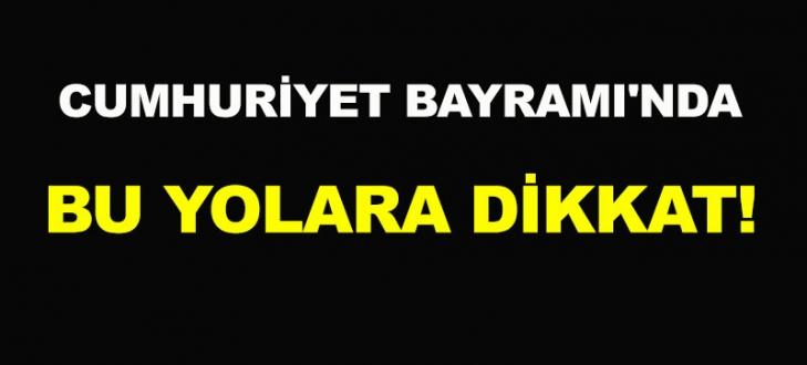 Bursa trafiğine Cumhuriyet Bayramı ayarı