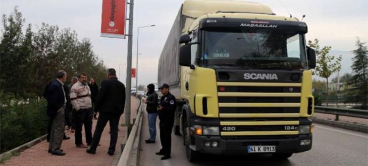 Bursa`da patlayıcı yüklü kamyon alarmı