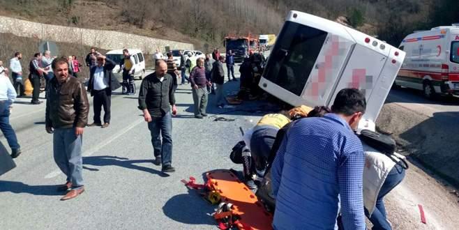 Bursa'da otobüs devrildi: 7 ölü, 39 yaralı