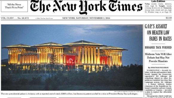 Cumhurbaşkanlığı NYT manşetinde