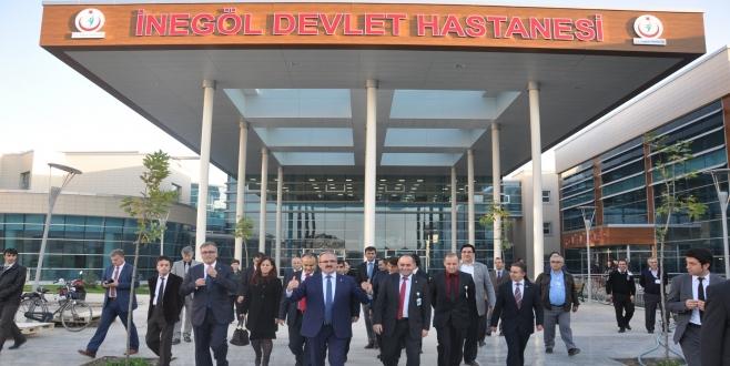 Vali Karaloğlu yeni İnegöl Devlet Hastanesi'ni inceledi