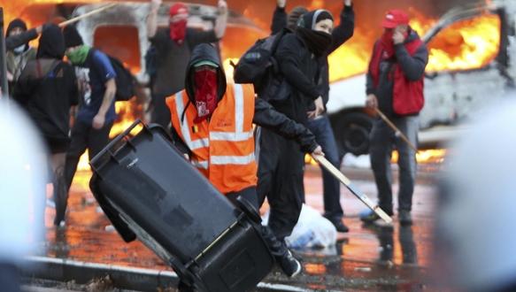 Brüksel`de çatışma