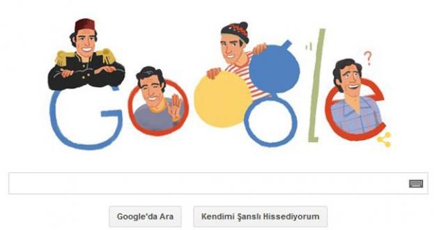 Google Kemal Sunal`ı unutmadı