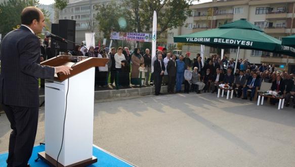 Fatmagül Kiraz Parkı hizmete açıldı