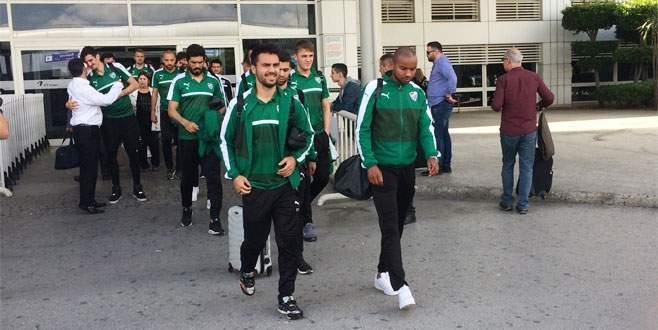 Bursaspor kafilesi Antalya'da