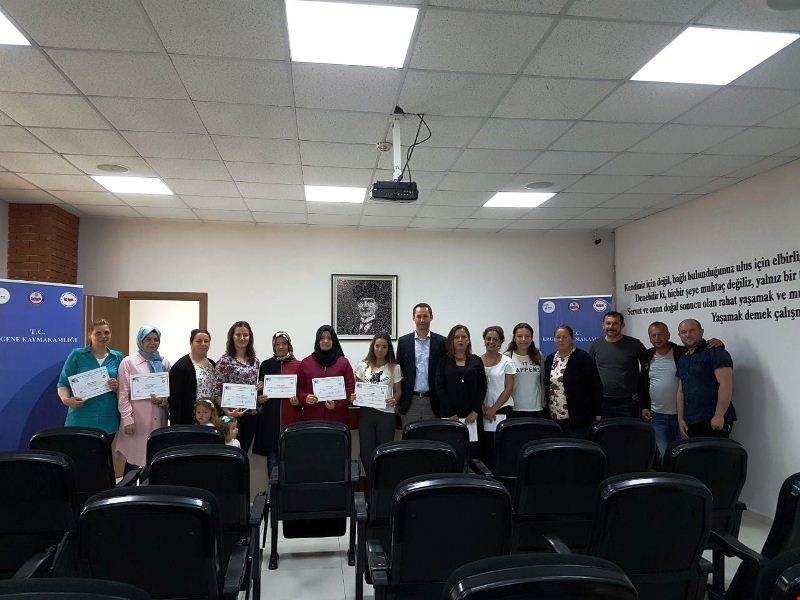 Ergene'de kadın çiftçilere sertifika