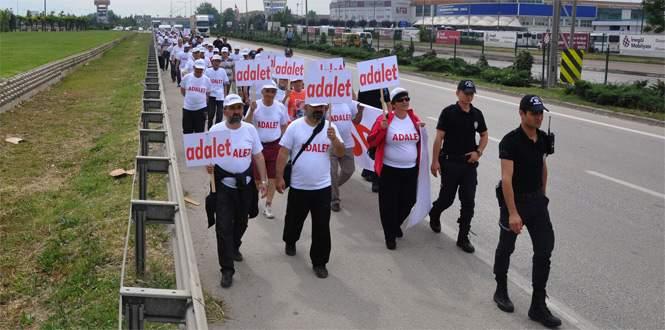 CHP ilçe örgütlerinden 'adalet yürüyüşü'ne destek