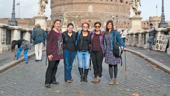 Bursalı 7 sanatçının Roma çıkarması