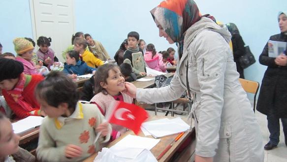 İnegöl`de 463 Suriyeli öğrenci eğitim görüyor