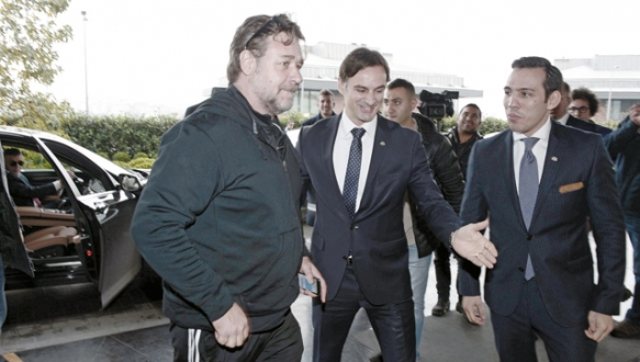 Russell Crowe İstanbul`da