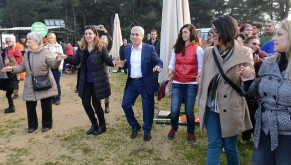 Nilüfer'de orman protestosu