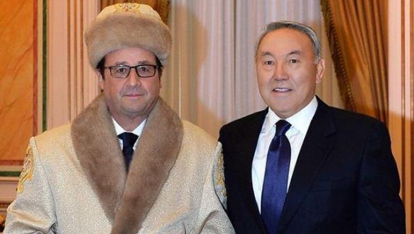 François Hollande`ı Borat`a benzettiler