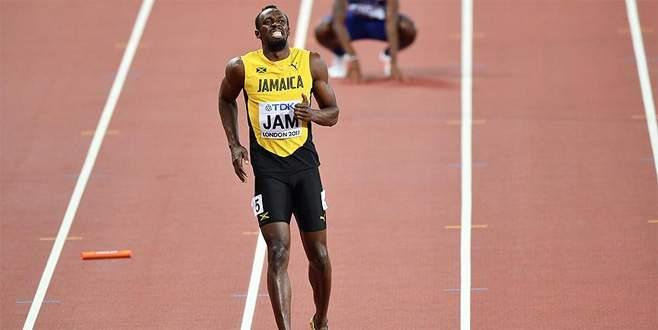 Usain Bolt yarışı tamamlayamadı