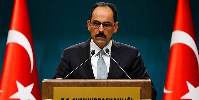 Cumhurbaşkanı Sözcüsü Kalın'dan çözüm süreci açıklaması