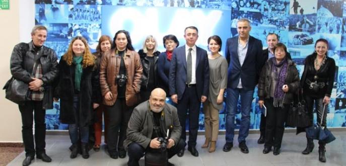 Bulgar gazetecilerden  Olay Medya'ya ziyaret