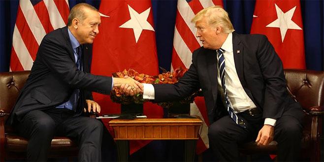 Erdoğan, Trump ile görüştü